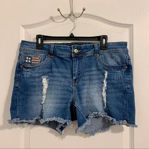 Forever 21 Plus size Patriotic Jean Shorts